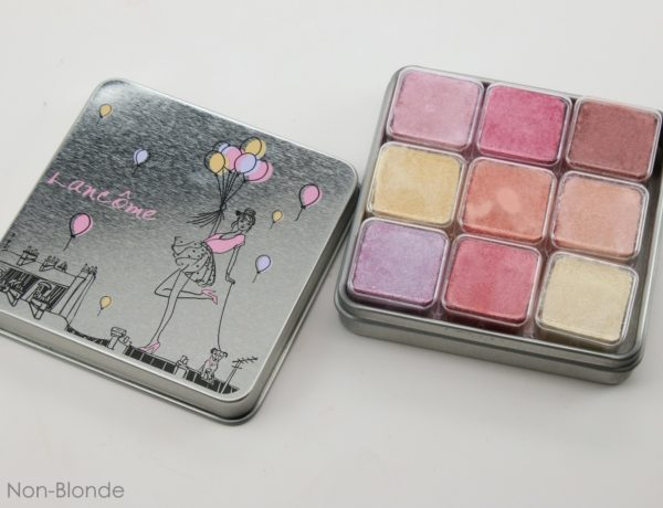 Lancôme Spring 2016 My Parisian Pastels Shimmer Cube Eyeshadows and Highlighters Palette a